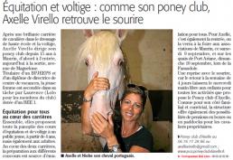 Equitation et voltige - article du midilibre